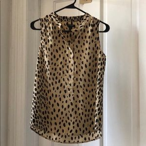 Jcrew Leopard Print Sleeveless Blouse
